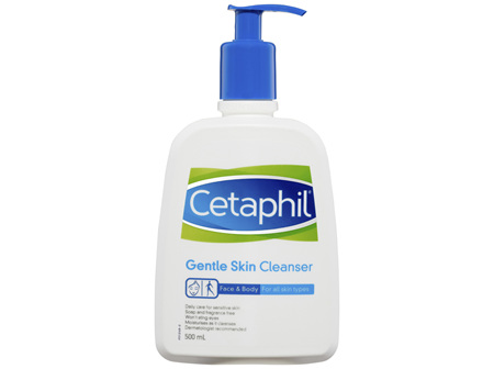 Cetaphil Gentle Skin Cleanser 500mL, For Face & Body Care