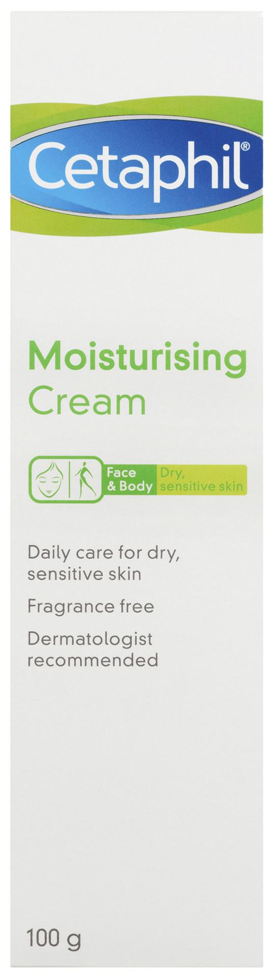 Cetaphil Moisturising Cream 100g, Rich Hydrating Moisturiser