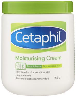 Cetaphil Moisturising Cream 550g, Rich Hydrating Moisturiser