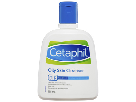Cetaphil Oily Skin Cleanser 235mL, Oily and Combination Skin