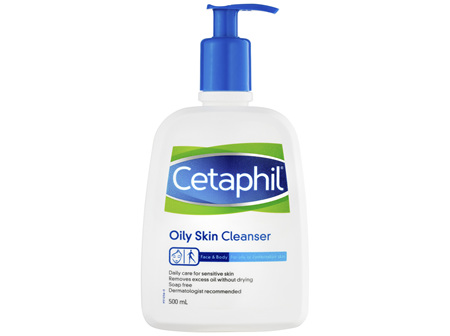 Cetaphil Oily Skin Cleanser 500mL, Oily and Combination Skin