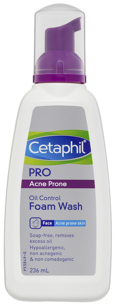 Cetaphil Pro Acne Prone Oil Control Foam Face Wash 236mL