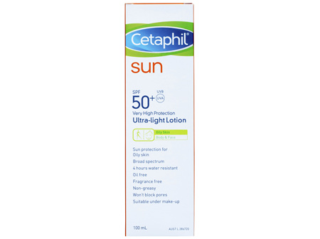 Cetaphil Sun Ultra-Light Lotion SPF 50+ 100mL, Sunscreen