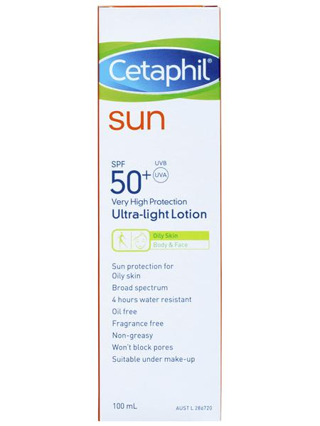 Cetaphil Sun Ultra-Light Lotion SPF 50+ 100mL, Sunscreen