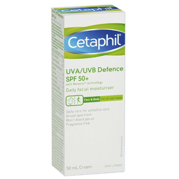 CETAPHIL UVA/UVB Defence SPF50+ 50ml