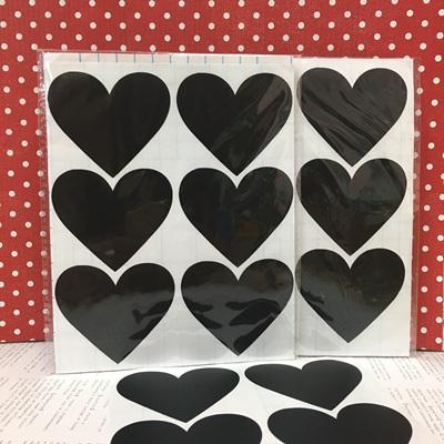Chalkboard Label 12pc - Heart