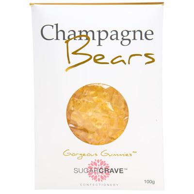 Champagne Gummie Bears - Bag 100g