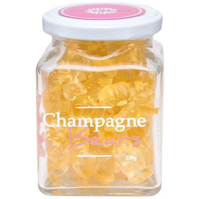 Champagne Gummie Bears - Jar 200g