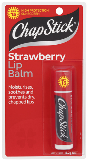 CHAPSTICK Lip Balm Strawberry SPF15 4.2g