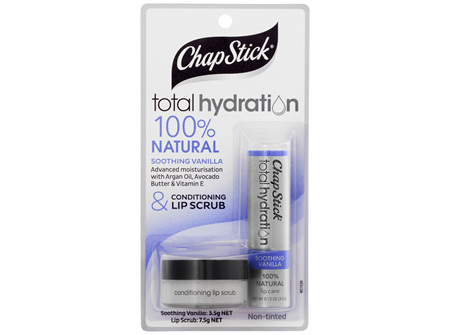 ChapStick Total Hydration 100% Natural Soothing Vanilla Conditioning & Lip Scrub Non-Tinted