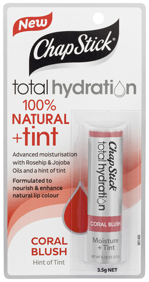 ChapStick Total Hydration 100% Natural + Tint Coral Blush 3.5g