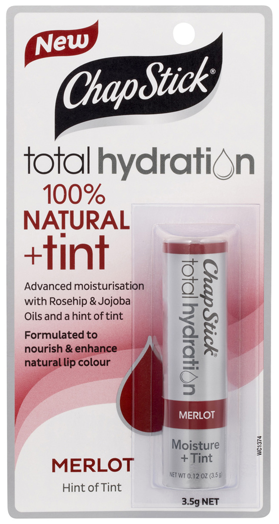 ChapStick Total Hydration 100% Natural + Tint Merlot 3.5g