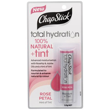 ChapStick Total Hydration 100% Natural + Tint Rose Petal 3.5g