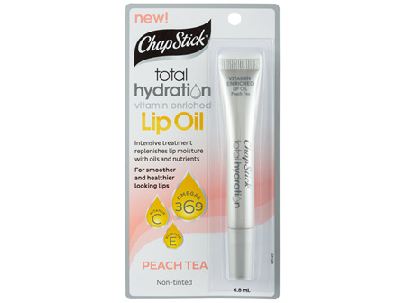 ChapStick Total Hydration Lip Oil Peach Tea 6.8mL