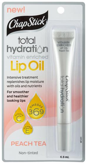 ChapStick Total Hydration Lip Oil Peach Tea 6.8mL