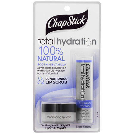 ChapStick Total Hydration Soothing Vanilla & Conditioning Lip Scrub Non-Tinted