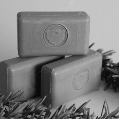 Charcoal and Rosemary Wash Bar - 80gm
