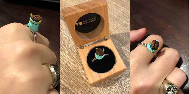 Char's 'I Love You a Latte' ring, made by her boyfriend, Luke:
