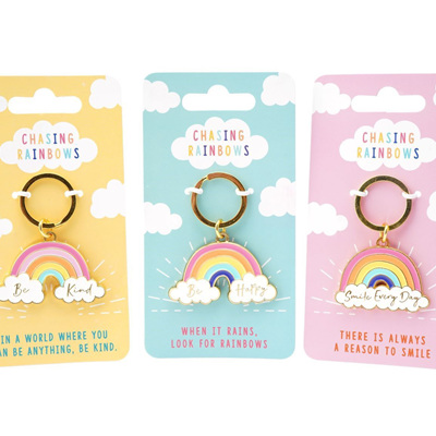 Chasing Rainbows Key Ring Assorted