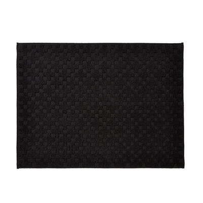 Check Bath Mat - Black