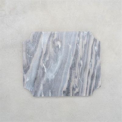 Cheese Board Arced Corner Grey Marble - 29.5x24.5cm