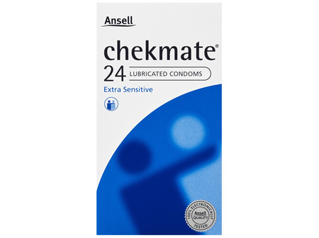 Chekmate Lubricated Condoms Extra Sensitive 24 Pack