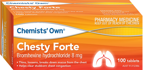 Chemists' Own Chesty Forte 8mg 100 Tabs