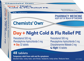 Chemists' Own Cold & Flu Day/Night Pe 48 Tabs
