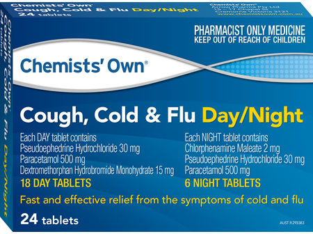 Chemists' Own Cough Cold & Flu Day/night Tab