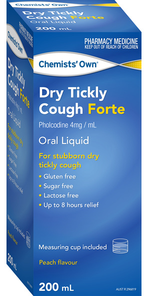 Chemists' Own Dry Cough Forte 200ml New