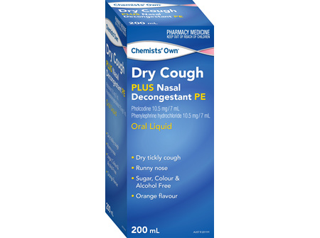 Chemists' Own Dry Cough Nasal Decon Pe