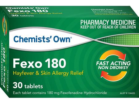 Chemists' Own Fexo 180mg Tab 30