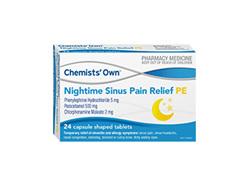 Chemists' Own N/time Sinus Pain Rlf Pe 24 Tab