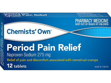 Chemists' Own Period Pain Relief Tab 12