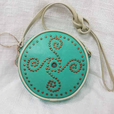 Cherokee Festival Bag - Aqua/Cream