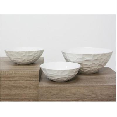 Chiseled Bowl - Matt White