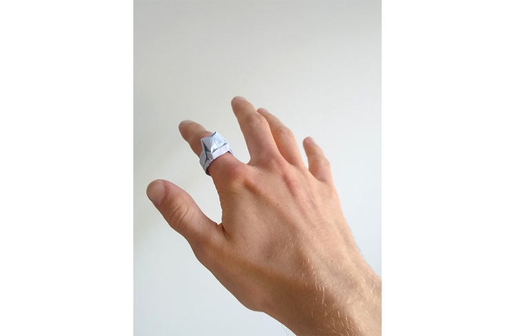 Chris' Origami Engagement ring (made by his girlfriend, Eleanor):