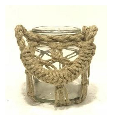 Chunky Roosa Lantern W Rope Weaving - Small