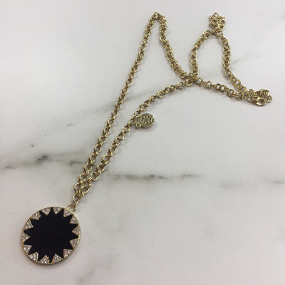 Circle Double Chained Pendant Necklace