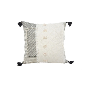 Citra Cushion w/ Patchwork And Tassels - 45x45cm