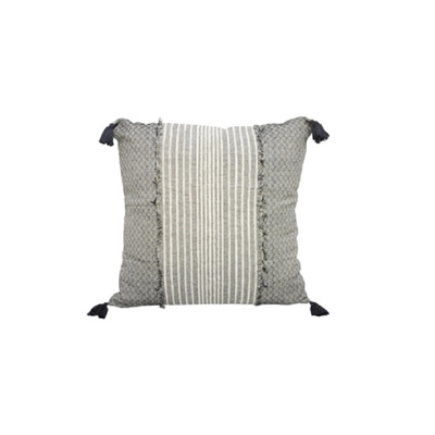 Citra Cushion w/ Patchwork And Tassels - 55x55cm