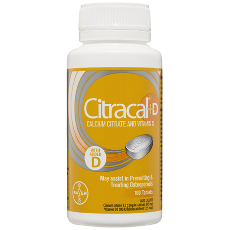 Citracal +D Calcium Citrate and Vitamin D Tablets 100 pack