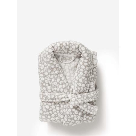 Citta Forget Me Not Women's Dressing Gown Fog/White - Medium