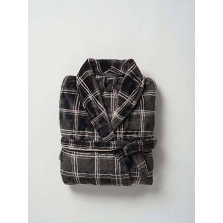 Citta Morales Men's Raschel Dressing Gown Carbon/Scoria - S/M