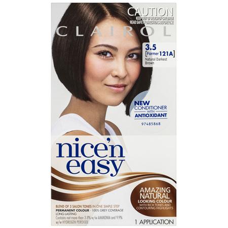 Clairol Nice 'N Easy 3.5 Natural Darkest Brown