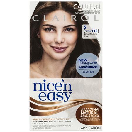 Clairol Nice 'N Easy 5 Natural Medium Brown