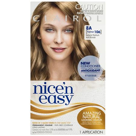 Clairol Nice 'N Easy 8A Natural Medium Ash Blonde