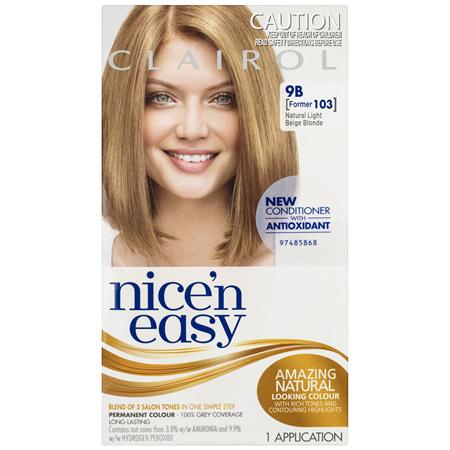 Clairol Nice 'N Easy 9B Natural Light Beige Blonde