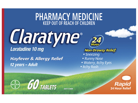 Claratyne Antihistamine Hayfever & Allergy Relief  Tablets 60 pack