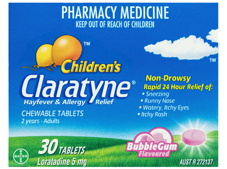 CLARATYNE Child Chew B/Gum 30tabs